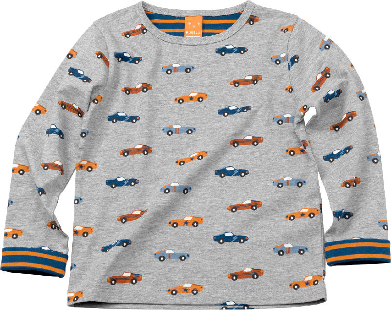 PUSBLU Kinder Pullover, Gr. 104, in Baumwolle und Viskose, grau