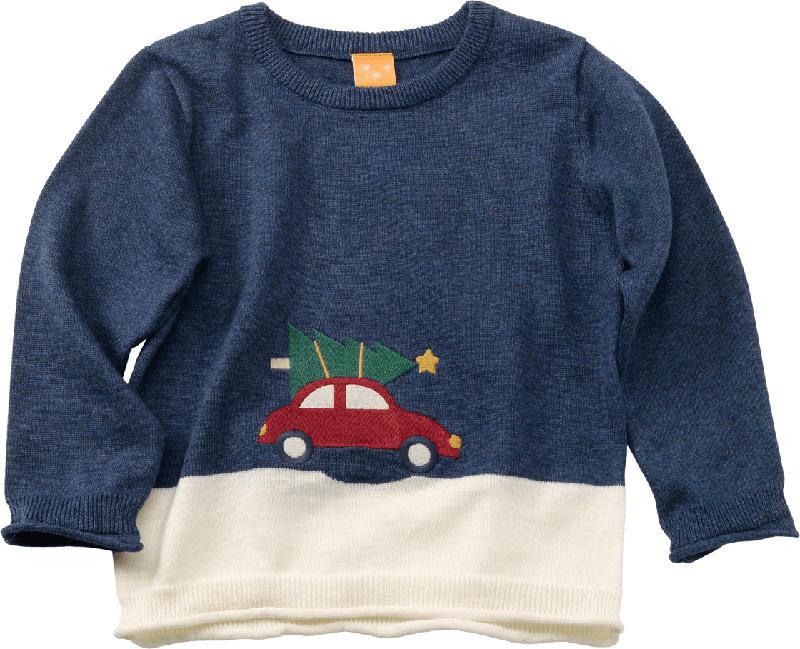 PUSBLU Kinder Pullover, Gr. 104, in Baumwolle, blau