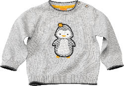 PUSBLU Baby Pullover, Gr. 74, in Baumwolle, grau