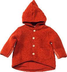 ALANA Baby Walkjacke, Gr. 74/80, in Bio-Wolle und Bio-Baumwolle, orange