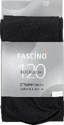 FASCÍNO Strumpfhose blickdicht 120 den, schwarz, Gr. 38/40