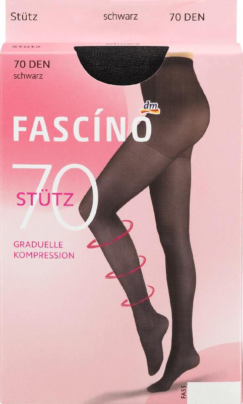 FASCÍNO Stütz Strumpfhose 70 den schwarz, Gr. 42/44