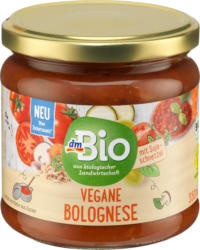 dmBio Sauce, Tomatensauce vegane Bolognese, vegan