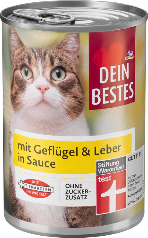 Dein Bestes Nassfutter für Katzen, mit Geflügel und Leber in Sauce