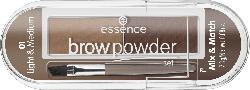 essence cosmetics Augenbrauen-Set brow powder set light & medium 01