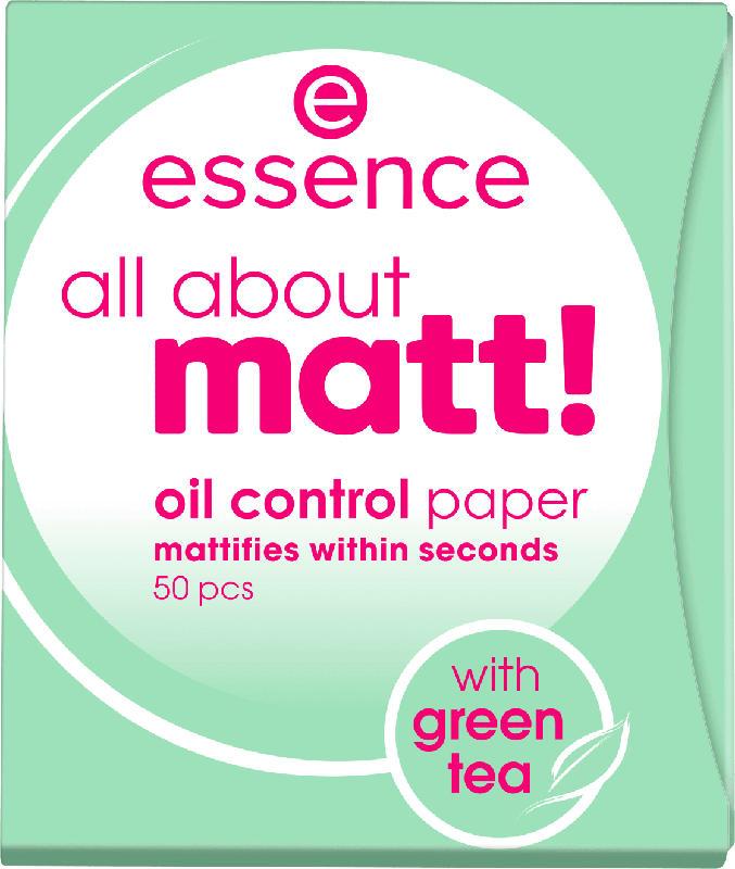 essence cosmetics Mattierendes Papier all about matt! oil control paper