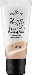 essence cosmetics Make-up Pretty Natural hydrating foundation Neutral Suede 090