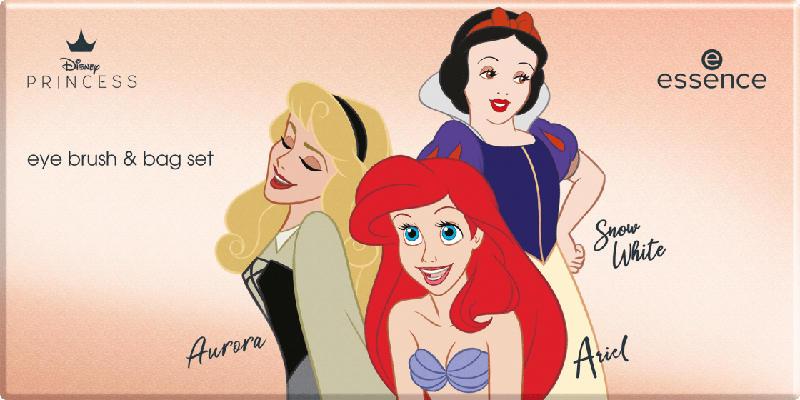 essence cosmetics Kosmetiktasche und Pinselset Eye Disney Princess