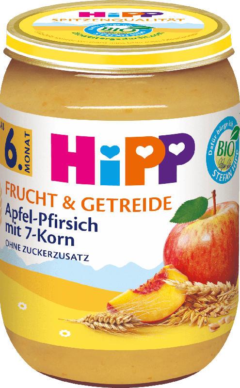 Hipp Frucht & Getreide Apfel-Pfirsich mit 7-Korn ab 6. Monat