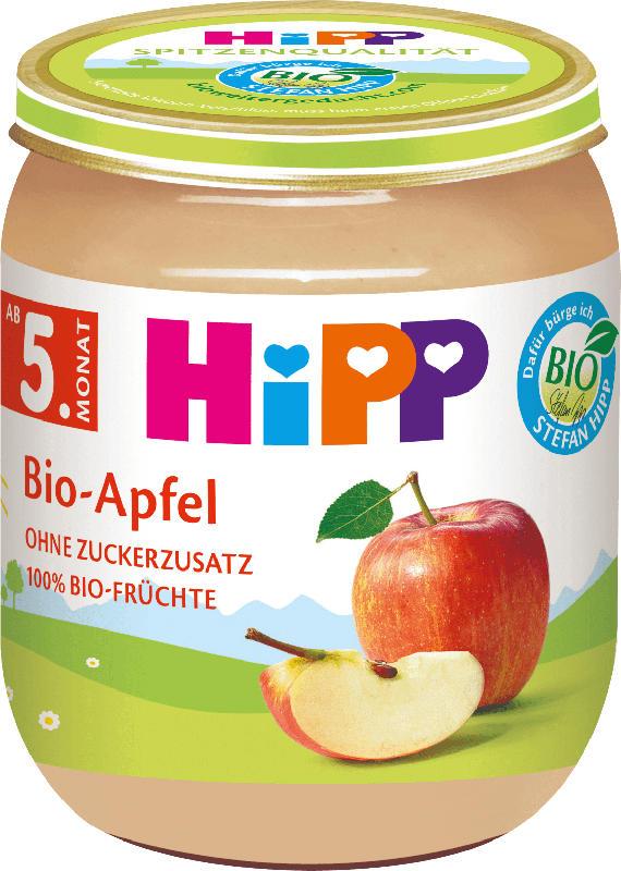 Hipp Früchte Bio-Apfel, nach dem 4. Monat/ab dem 5. Monat