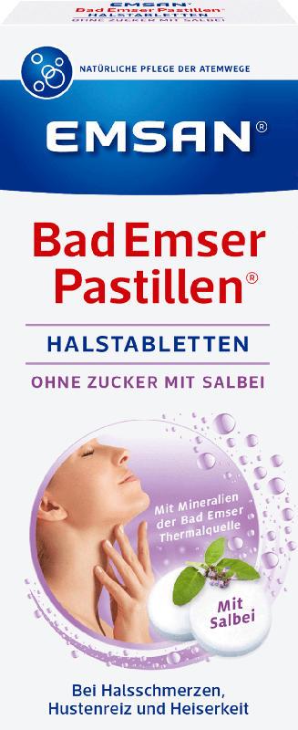 Emsan Bad Emser Pastillen Halstabletten mit Salbei