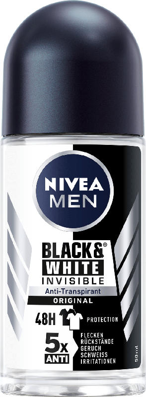 NIVEA MEN Deo Roll On Antitranspirant B&W Power