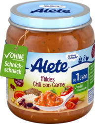 Alete Menü Mildes Chili con Carne ab 1 Jahr