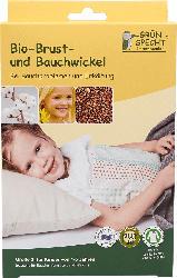 Grünspecht Brust-und Bauchwickel BIO, Größe 2 (1-5 Jahre), GOTS