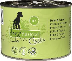 dogz finefood Nassfutter für Hunde, Adult, No.4 Huhn & Fasan