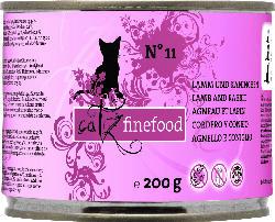 catz finefood Nassfutter für Katzen, Adult, classic No.11 Lamm und Kaninchen