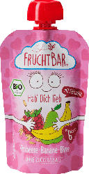 FruchtBar Quetschie Himbeere,Banane,Birne Hafermilch ab 6 Monaten