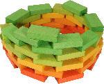 dm-drogerie markt Beck Spielwaren Fröbelbausteine bunt gebeizt, 48-teilig