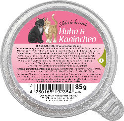 GranataPet Nassfutter für Katzen, Adult, Filet à la carte Huhn & Kaninchen