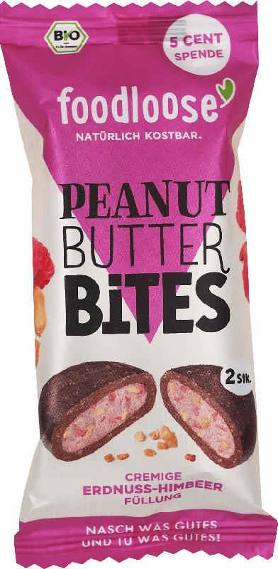 foodloose Peanut Butter Bites Erdnuss-Himbeere
