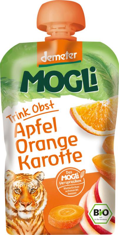 MOGLi Quetschbeutel Trink-Obst Apfel, Orange + Karotte ab 1 Jahr