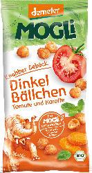 MOGLi Snack Knabber Gebäck Dinkel Bällchen Tomate und Karotte