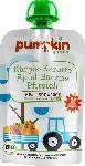 dm-drogerie markt pumpkin organics Quetschbeutel WONNE Kürbis Karotte Apfel Banane Pfirsich ab dem 6. Monat