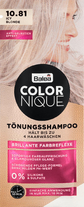 Balea COLORNIQUE Tönungsshampoo Icy Blonde 10.81