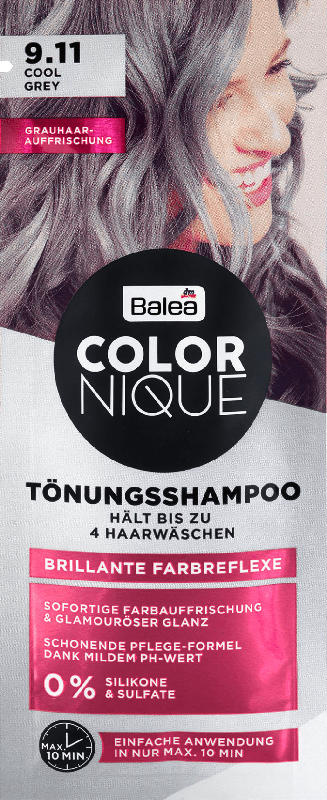 Balea COLORNIQUE Tönungsshampoo 9.11 Cool Grey