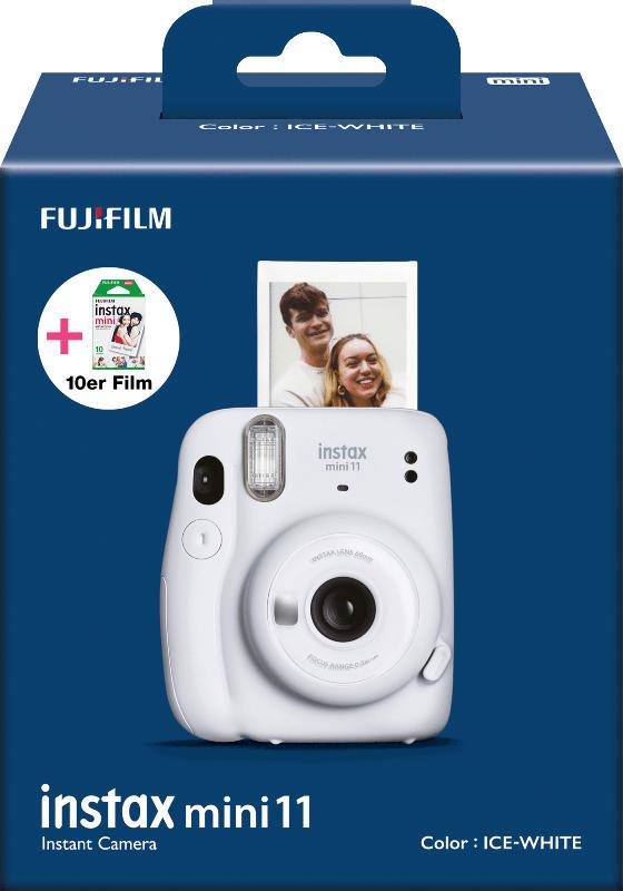 Fuji instax Mini 11 Kamera ICE-WHITE + 10er instax Mini Film