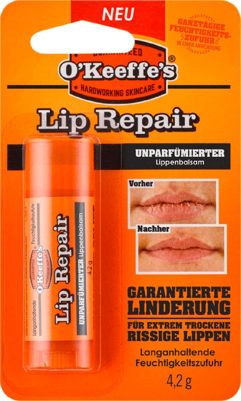 O'Keeffe's Lippenpflege Lip Repair parfümfrei