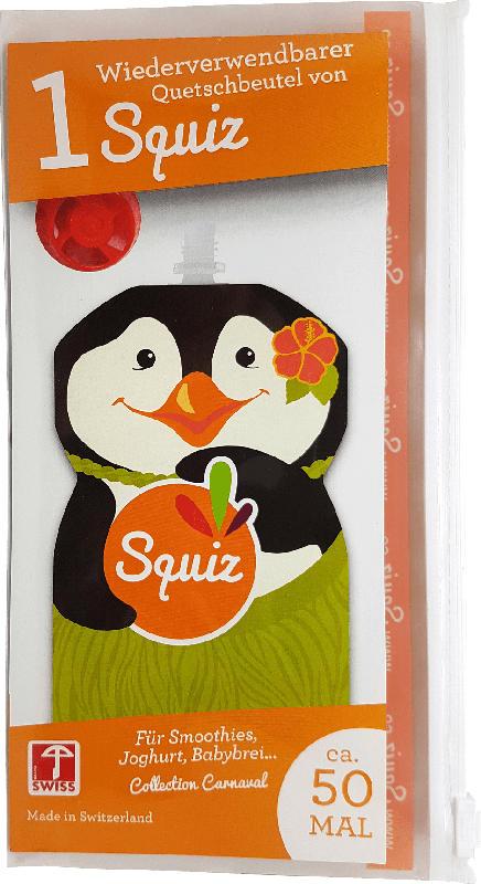 Squiz Quetschbeutel wiederverwendbar Pinguin