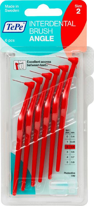 TePe Interdentalbürsten Angle rot 0,5mm ISO 2