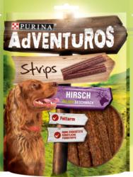 Adventuros Snack für Hunde, Strips mit Hirsch