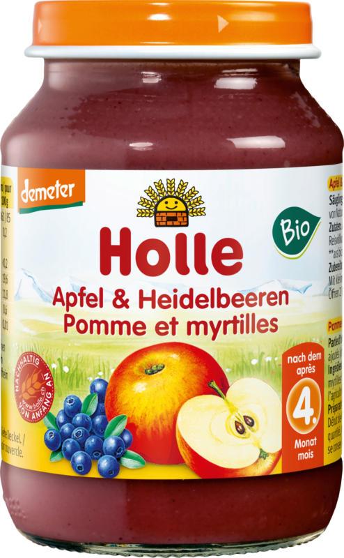 Holle baby food Früchte Apfel & Heidelbeeren nach dem 4. Monat