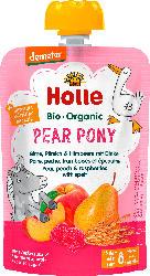 Holle baby food Quetschie Pear Pony, Birne, Pfirsich & Himbeere mit Dinkel ab 8 Monaten