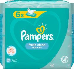 Pampers Feuchttücher Fresh Clean, 6x52 Stück