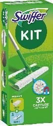 Swiffer Staubwischer Systemstarter (Bodenstab + 8 Trockentücher + 3 Wet Wischtücher)
