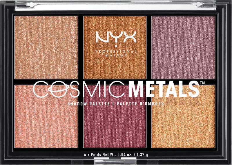 NYX PROFESSIONAL MAKEUP Lidschatten Cosmic Metals Shadow Palette 01
