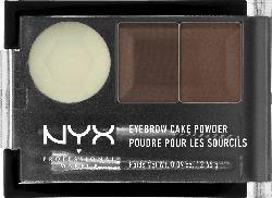 NYX PROFESSIONAL MAKEUP Augenbrauenpuder Eyebrow Cake Powder Dark Brown / Brown 02