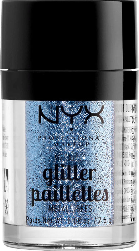NYX PROFESSIONAL MAKEUP Glitzer Metallic Glitter darkside 02