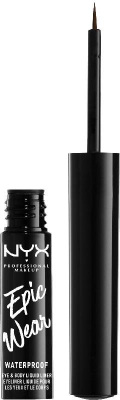 NYX PROFESSIONAL MAKEUP Eyeliner Epic Wear Semi Permanent Liquid Liner Brown 02