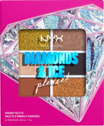 NYX PROFESSIONAL MAKEUP Lidschatten Diamonds and Ice, please 6 Pan Shadow Palette Jeweled
