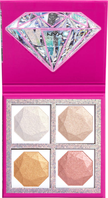 NYX PROFESSIONAL MAKEUP Highlighter Diamonds and Ice, please Highlighting Palette Best Life
