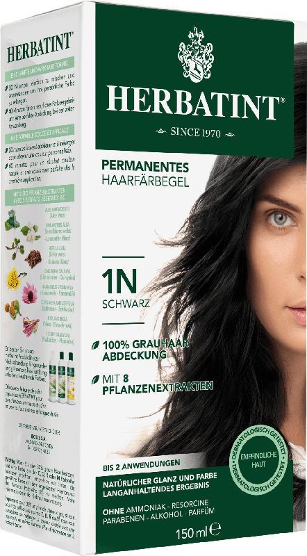 Herbatint Haarfarbe Gel Schwarz 1N