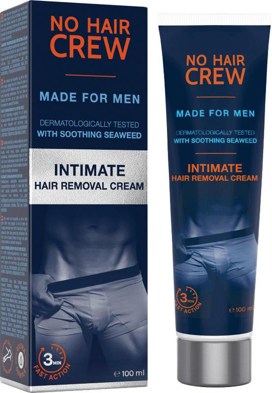 No Hair Crew Intim-Haarentfernungscreme