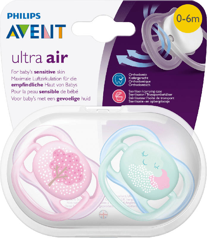 Philips AVENT Schnuller ultra air Silikon, 0-6 Monate