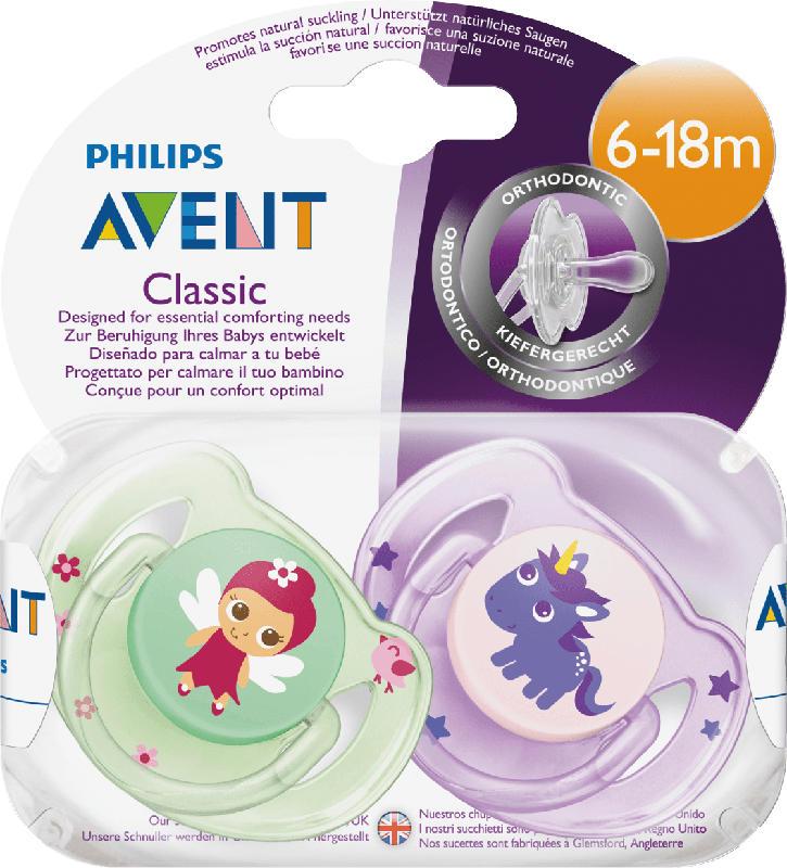 Philips AVENT Schnuller Classic Silikon, 6-18 Monate