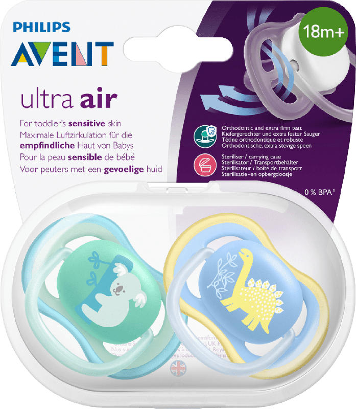 Philips AVENT BS Ultra Air  Sil. 18M+ 2 St.