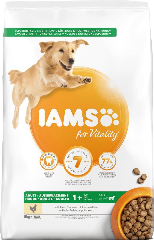 IAMS Trockenfutter für Hunde, Adult, Huhn für große Hunde